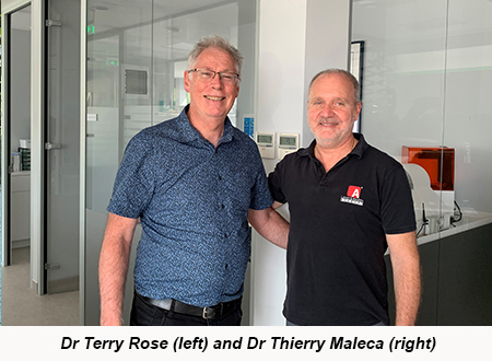 Dr Terry Rose (left) and Dr Thierry Maleca (right)